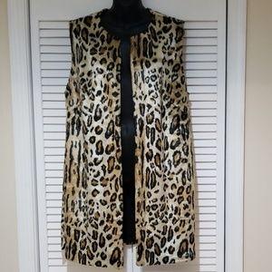 Chico's Animal Print Vest, Size 2 (12/14)